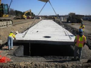 A.L. Patterson lifting lugs for stormater vault roof panels.