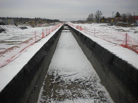 Stormwater management winter construction in freezing tempertures.