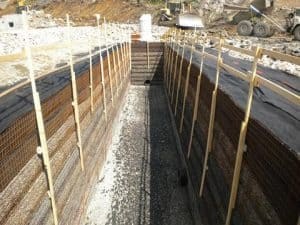 Safety mesasures for deep stomwater detention system construction.