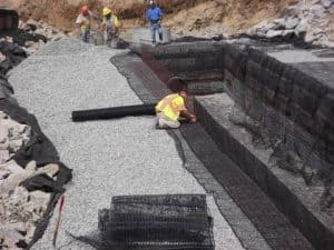 D. W. White Construction build undergound stormwater detention systems in Waltham, MA.