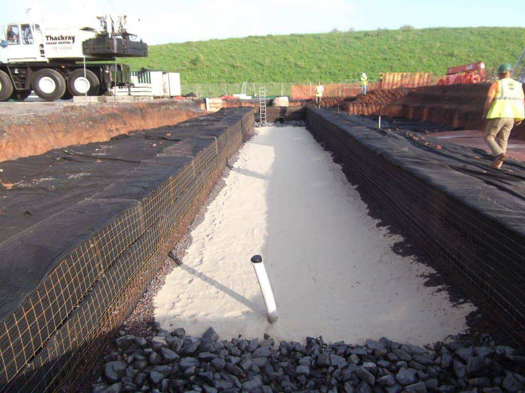 storm water detention system sandfilter