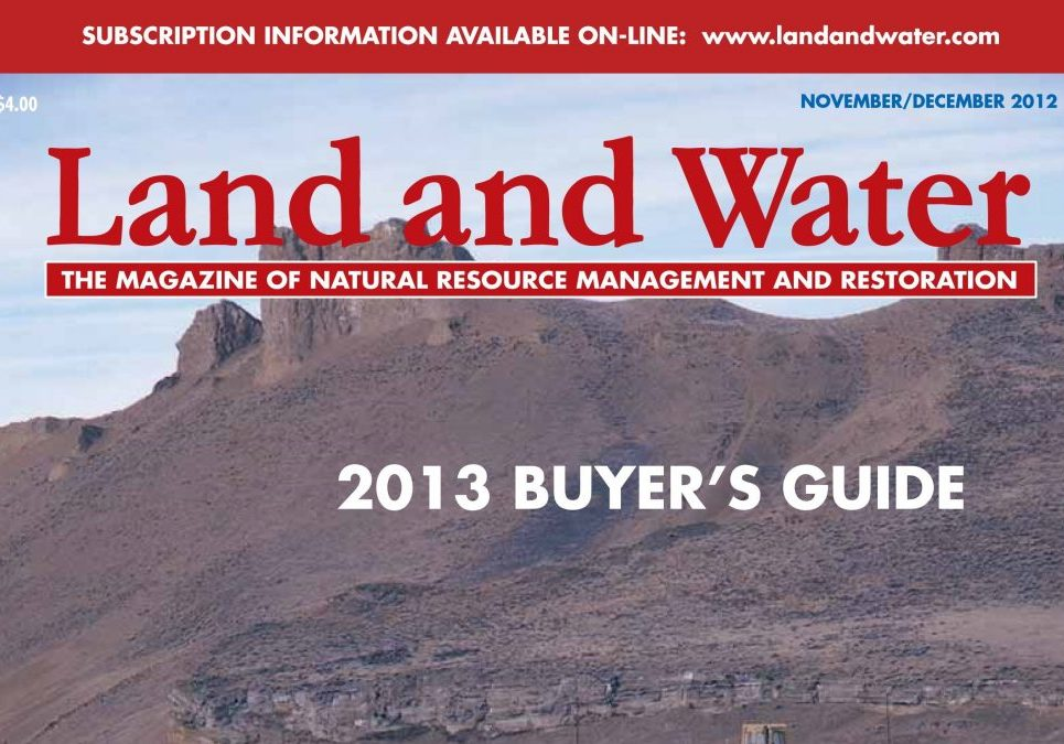 Land And Water Magazine - November/December 2012